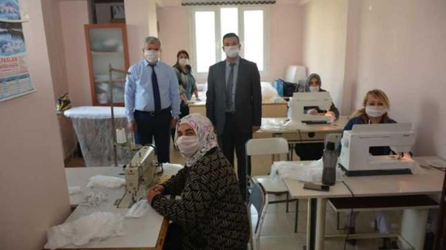 Beykoz Halk Eğitim Merkezi'nden Maske Üretimi