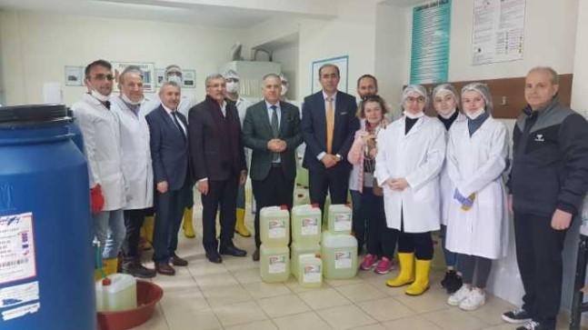 Beykoz'da Dezenfektan Üretimi Başladı