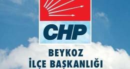 CHP Beykoz İlçe Başkanlığı'ndan Basın Açıklaması