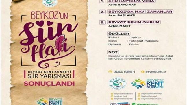 """""""Beykoz'un Şiir Hali"""" yarışması sonuçlandı."""