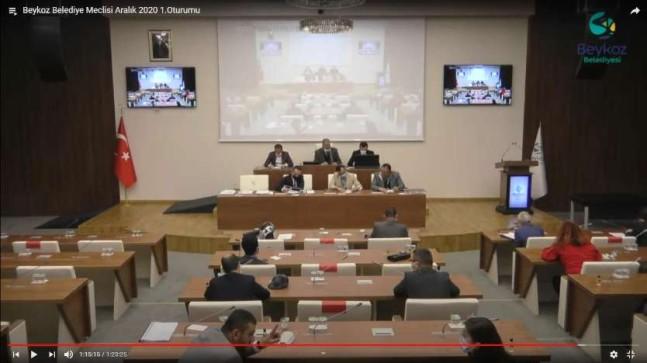 Beykoz Belediye Meclisi, Aralık 2020 – 1.Oturumu gerçekleşti.