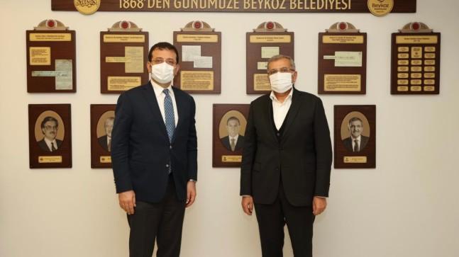 Başkan Aydın'a, İmamoğlu'ndan taziye ziyareti