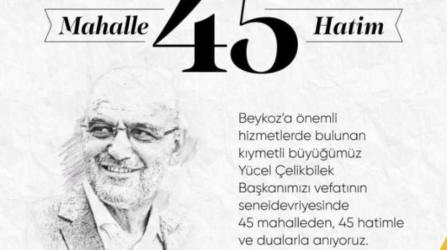 """AK Parti Beykoz İlçe Başkanlığı: """"Hatim ve dualar Beykoz'un ağabeyi için"""""""