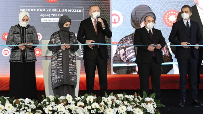 Cumhurbaşkanı Erdoğan, Beykoz Cam Ve Billur Müzesi'nin Açılışını Gerçekleştirdi