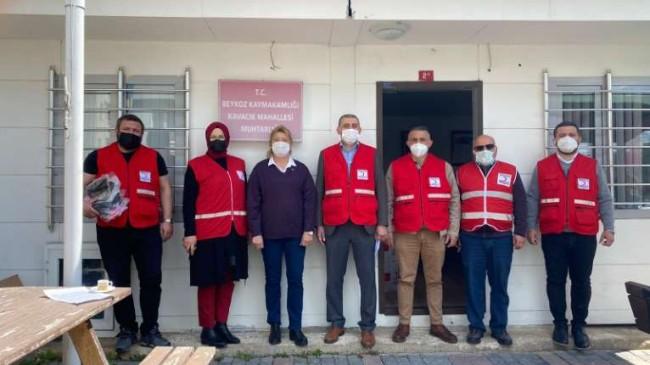 Beykoz Kızılay'dan ihtiyaç sahiplerine yardım kolileri