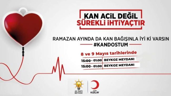 "AK Parti: ""Haydi Beykoz! Kan bağışı kampanyamızda buluşalım."""