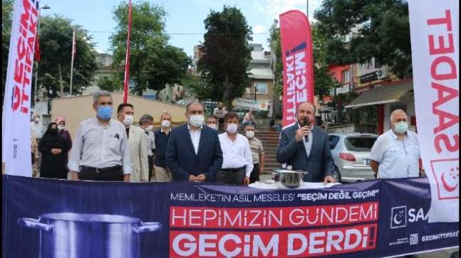 """Saadet Partisi'nden """"Geçim İttifakı"""" basın açıklaması"""
