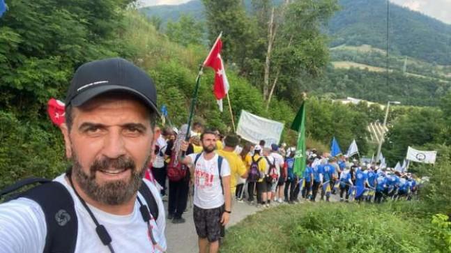 Hanefi Dilmaç, Srebrenitsa – Tuzla yolundaki Marş Mira (Barış Yürüyüşü)'ne katıldı.